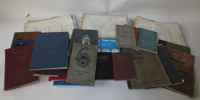 Assorted handbooks and workshop manuals,