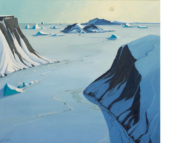 Charles Anthony Law (Canadian, 1916-1996) March Sun - East Coast of Baffin Island - North West Territory