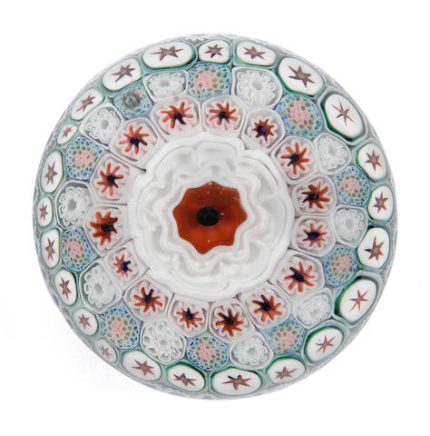 A good Bacchus concentric millefiori paperweight, circa 1850