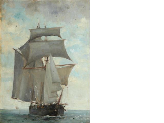 Henry Scott Tuke, RA, RWS (British, 1858-1929) Danish brigantine