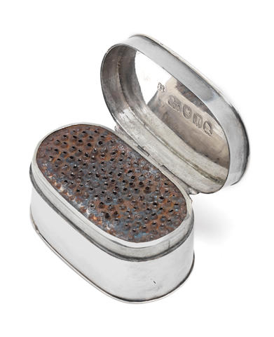 A George III silver nutmeg grater by Phipps & Robinson, London 1804