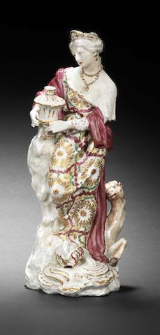 A Plymouth figure of Asia, circa 1768-70