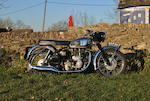 The ex-factory press fleet, earliest known survivor,1955 Velocette 349cc Viper Frame no. RS7879 Engine no. VR1002