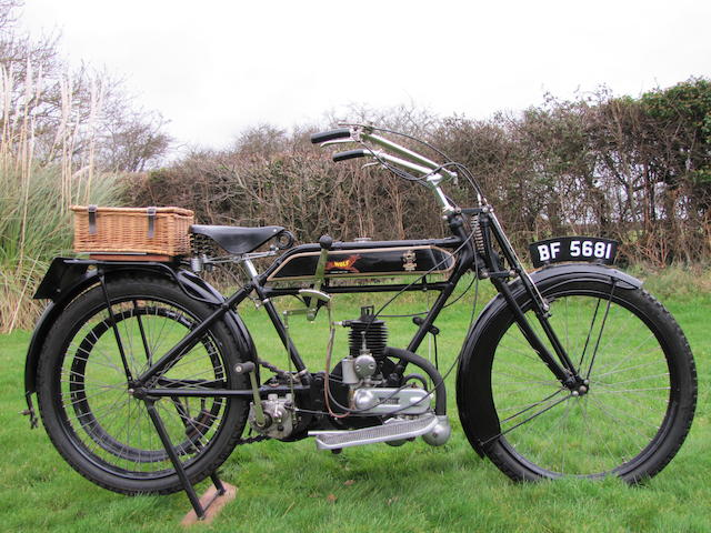 1914 Wolf 269cc Model B, Frame no. 12965 Engine no. 1515