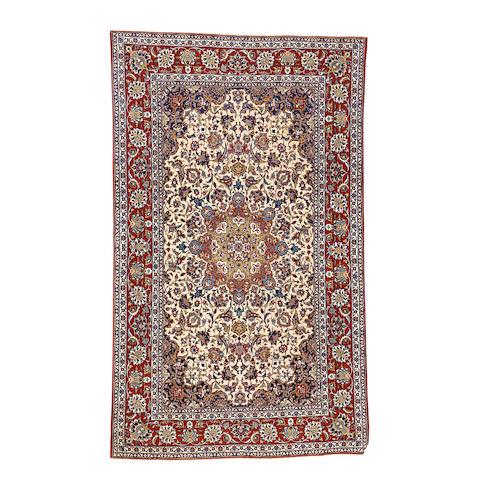 An Isfahan rug, Central Persia, 224cm x 140cm