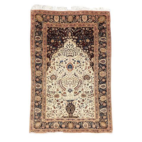 A Mohtashem Kashan prayer rug, Central Persia, 200cm x 134cm