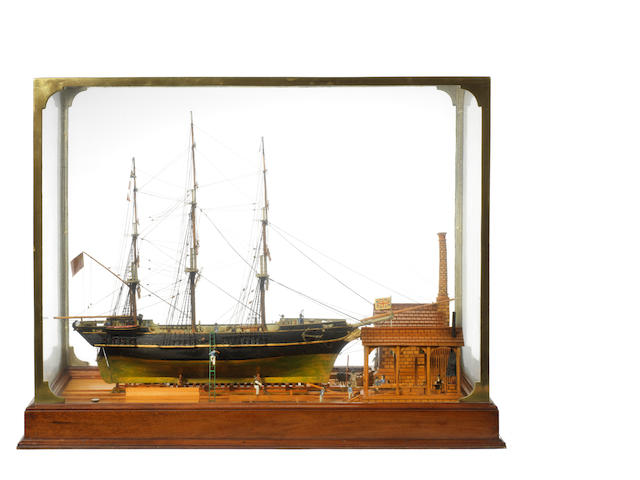A Museum quality diorama model of the ship Oder 31x24x15ins. (79x61x38cm)