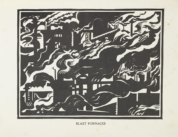 Edward Wadsworth (British, 1889-1949) Modern Woodcutters 4 The rare book, 1921, comprising 14 woodcuts most likely from the original blocks, after the 1918-21 first editions, printed by the Morland Press Ltd., London, published by the Little Art Rooms, London, 258 x 192mm (10 x 7 3/4in)(overall) vol