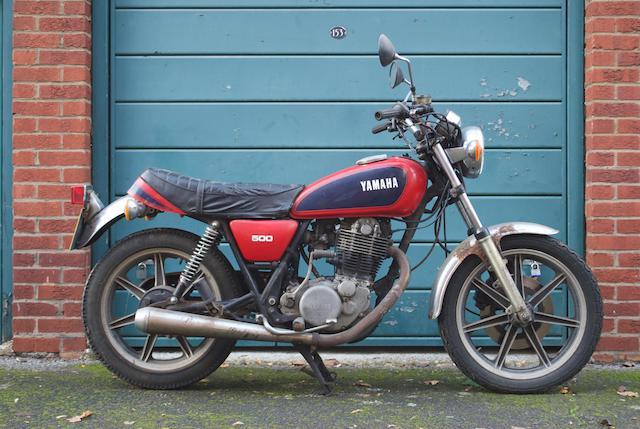 1980 Yamaha SR500 Frame no. 2J40 104250 Engine no. 2J4 104250