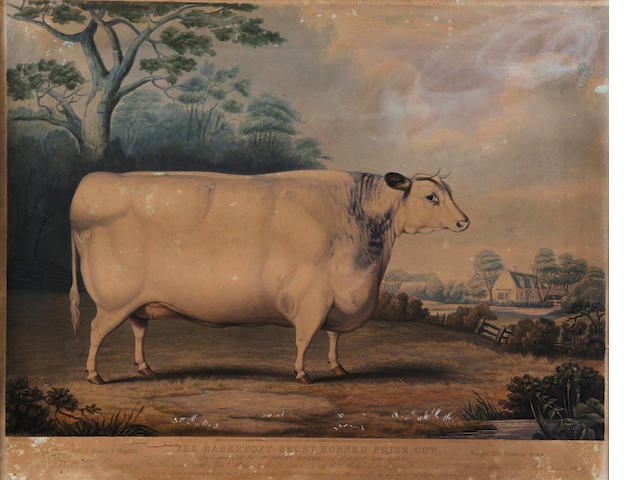 William Ward I (British, 1766-1826), after Thomas Weaver 'A Short Horned Heifer'