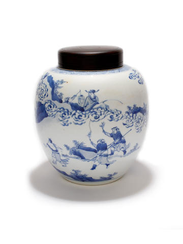 A Chinese blue and white vase, Chenghua mark but Kangxi
