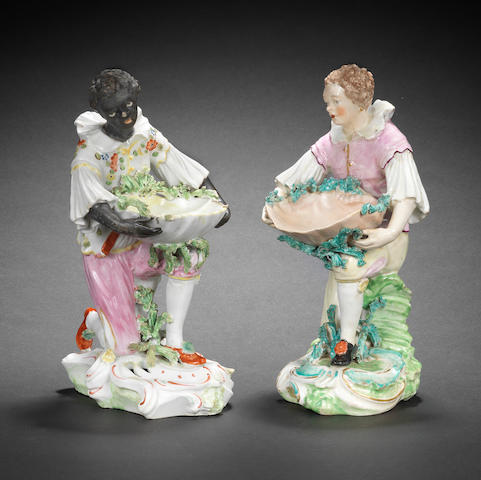 Two Derby figures, circa 1785