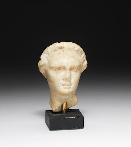 A small Greek marble male head
