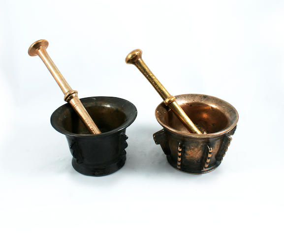 Two 17th century mortars, French