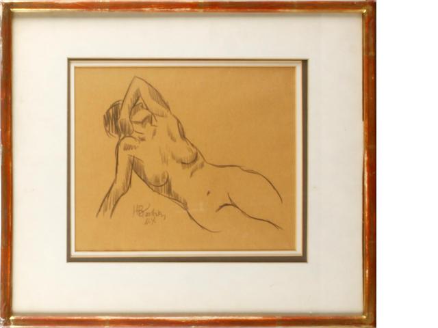 Horace Asher Brodzky (Australian, 1885-1969) Reclining nude