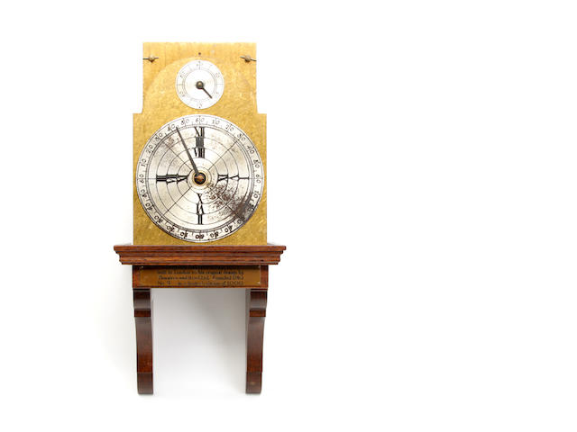 A replica of Benjamin Franklins designed wall clock Inscribed Thwaites and Reed ltd