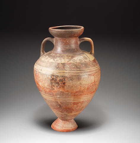 A large Etrusco-Corinthian pottery amphora