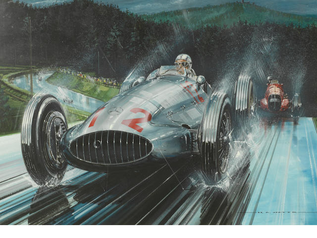 Nicholas A Watts, British (1947 - ); '1939 German Grand Prix',