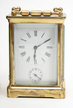 An early 20th century brass carriage clock 3