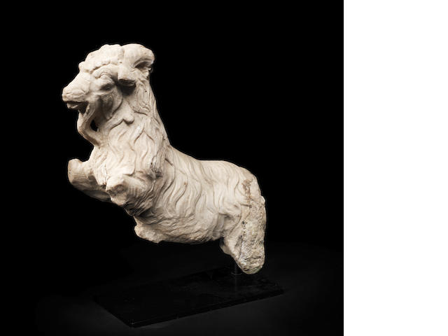 A Roman marble ram