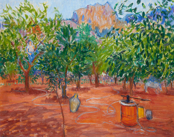 Frederick Gore C.B.E, R.A (British, 1913-2009) Orange Groves outside 'C'AN Det