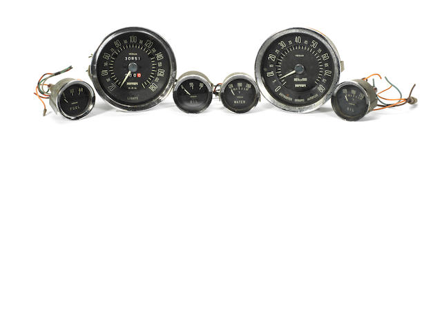 Veglia dashboard instruments for Ferrari 250 GT 'Tour de France' and SWB models, Italian, late 1950s early 1960s,