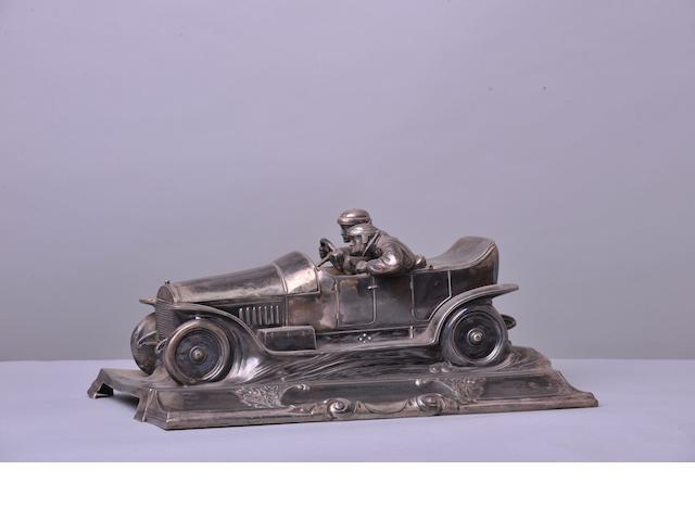 An Edwardian era motoring deskpiece,
