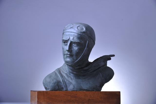 A pioneer aviator bust by J.Martel,