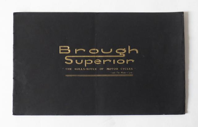 A Brough Superior range brochure for 1937,