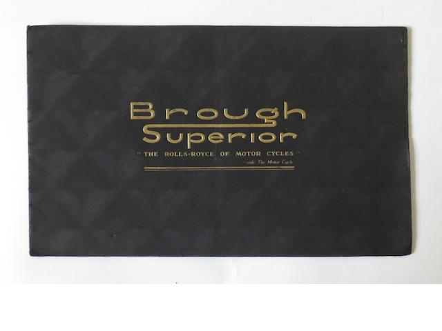A Brough Superior range brochure for 1938,