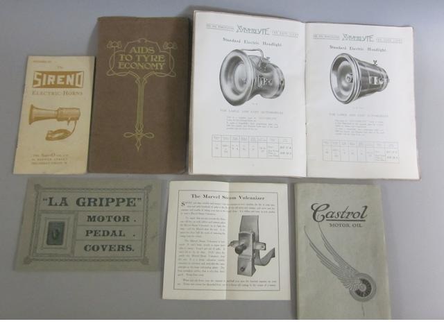 Six motor accessories publications, 1908-1914,