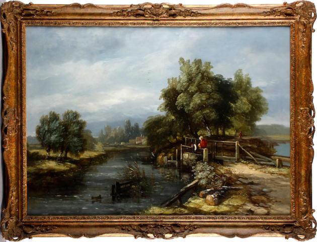 Follower of Frederick Waters Watts (British, 1800-1862) The lock