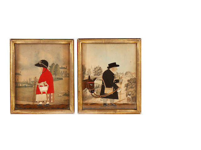 A pair of George Smart cut-felt collage pictures, circa 1840