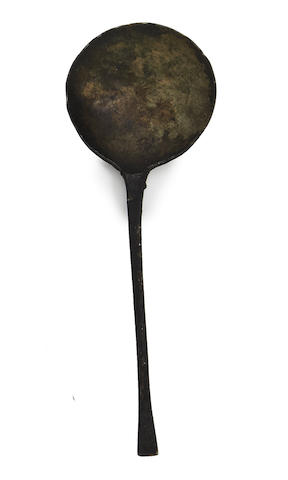 A pewter spoon, possibly 17tth century, Low Countries