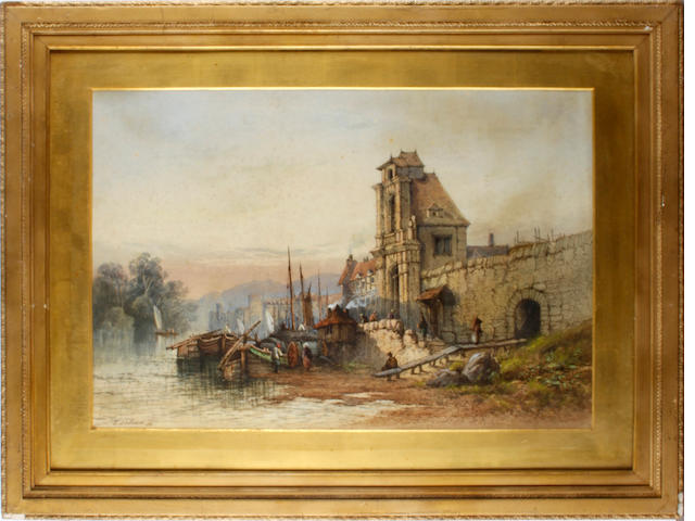 Edwin St. John (British, 1878-1961) 'Near Cologne' and 'On The Rhine'<BR />A pair<BR />Signed and dated<BR />Watercolour<BR />42 x 62cms