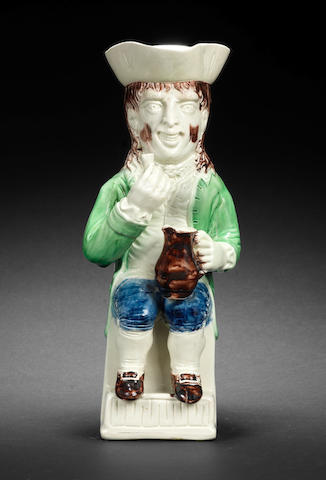 A Wood type 'Thin Man' Toby jug, circa 1780