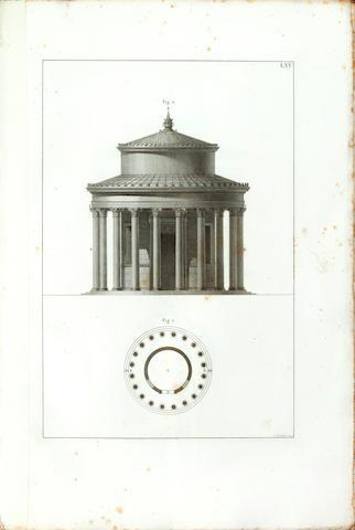 VITRUVIUS POLLIO (MARCUS) L'architettura, 3 vol., 1836-1837