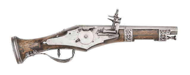 An Italian 30-Bore Wheel-Lock Belt Pistol In Brescian Style