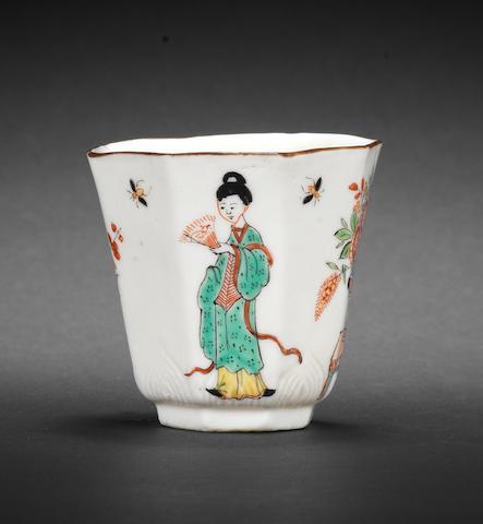 A Dehua beaker painted in Europe, circa 1710-25
