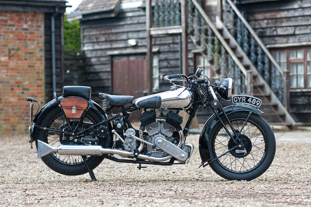 1936 Brough Superior 982cc SS80 Frame no. M8/1658 Engine no. BS/X 4640