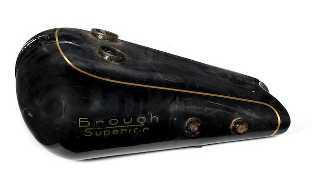A Brough Superior SS80 petrol tank,