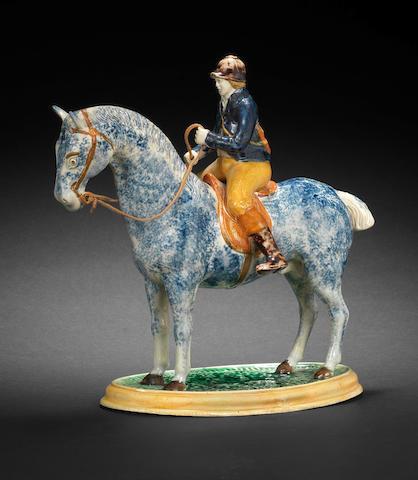 A rare Pratt Ware equestrian group, circa 1810