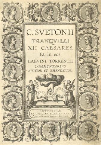 SUETONIUS TRANQUILUS (CAIUS) [De vitae] XII Caesares, 1591