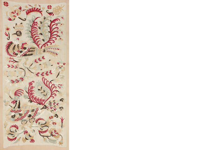 An Embroidery with Birds,  North Sporades islands, Skyros, 17th-18th Century