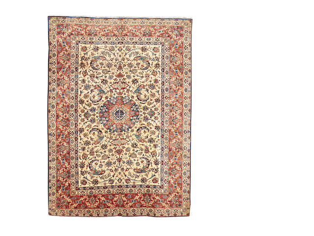 An Isfahan carpet, Central Persia, 360cm x 258cm
