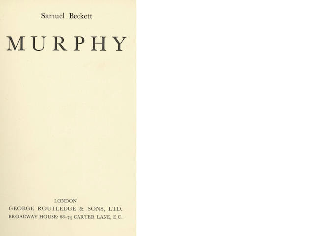 BECKETT (SAMUEL)  Murphy, George Routledge, [1938]