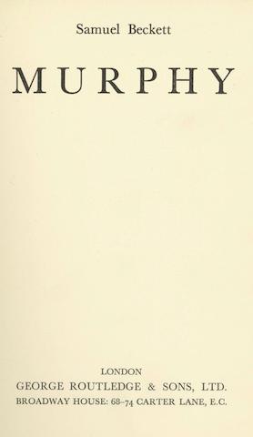 BECKETT (SAMUEL)  Murphy, George Routledge, [1938]