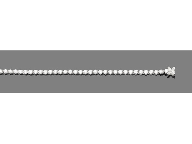 A diamond line bracelet, by Tiffany & Co.,