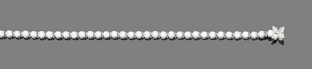 A diamond line bracelet, by Tiffany & Co.,