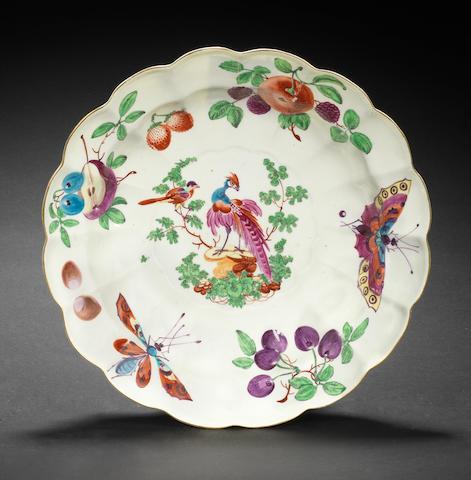 A Worcester dish, circa 1768-70